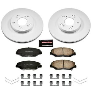 Crk1043 Powerstop 2 wheel Set Brake Disc And Pad Kits Front New Coupe Sedan