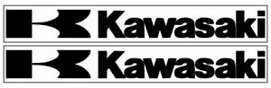 2 Kawasaki Logo Vinyl Decals Car Truck Motorcycle Stickers 12 Colors Available