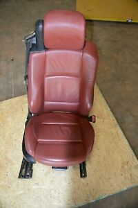 08 13 Bmw 3 Series Convertible Sport Seat Red Right Passenger Side Electric Lcd1