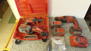 Hilti Te2 a18 Hammer Drill sd 4500 a18 Screw Shooter smd 50 Charger 4 Batteries