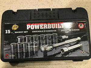 Powerbuilt 15 Pc Metric Mechanics Tool Set