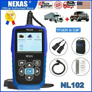 Heavy Duty Diesel Truck Scanner Obd2 Code Reader Engine Check Diagnostic Tool