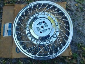 14 Nos 1985 Cadillac Oem Wire Spoke Hubcap Wheelcover 1 1624052 H 2047a