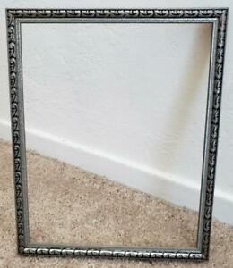Vintage 1930 S Wood 8 X 10 Silver Tone Art Deco Old Antique Picture Frame