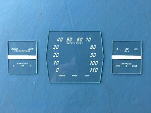 1938 Cadillac Lasalle Speedometer And Gauge Glass Set