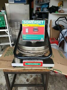 Somerset Sdp 800 Pizza Or Bread Or Tortilla Dough Press Manual Operation Dual