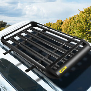 Universal 51 x 40 Black Aluminum Roof Top Rack Basket Luggage Cargo Carrier
