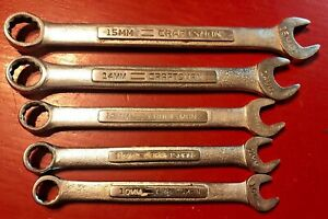 Lot Of 5 Craftsman 12pt Combination Wrenches V And Vv Series