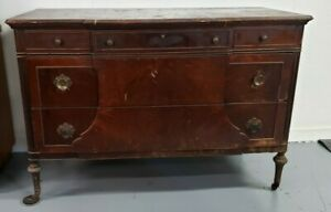Antique Wooden Dresser 5 Drawer With Legs Pick Up And Restore Great Price