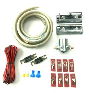 2 Awg Heavy Duty Dual Auxiliary 300 Amp Battery Isolator Copper Kit Anl Fuses