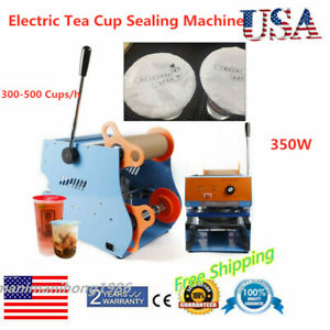 110v Electric Sealing Machine Cup Sealer Bubble Tea Coffee Plastic Cup 350w 17cm