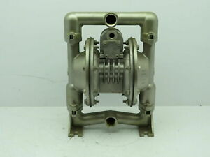Versa matic Air Pneumatic Diaphragm Pump Stainless Steel 1 npt no Tag Tested