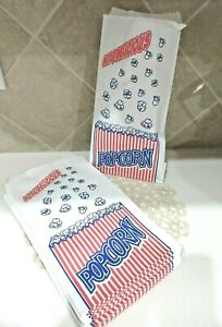 50 Individual Popcorn Bags Single Serving Carnival Parties Home Movie Night