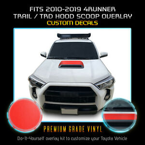 For 2010 2020 4runner Trail Trd Off Road Pro Hood Scoop Decal Flat Matte