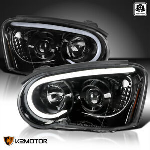 Jet Balck For 2004 2005 Subaru Impreza Wrx Led Drl Projector Headlights Pair
