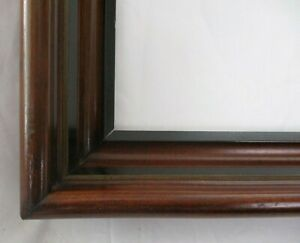 Antique Fits 9 X 11 Picture Frame Fine Art Walnut Wood Country Deep Cove
