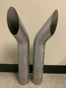 4 X 25 439 Stainless Steel Exhaust Stacks pair