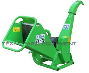 Peruzzo Tb100 Drum Type Pto Wood Chipper W dynamic Self feed Chips 4 Dia X 12