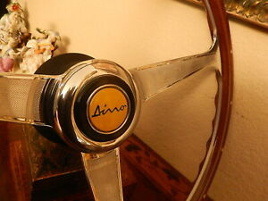 Ferrari Dino 246 Steering Wheel Wood Nardi Original Momo Dino Horn Button N O S