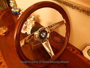 Bmw 02 2002 Wood Steering Wheel 13 75 Vintage Hub Boss Nardi Bmw Horn Button