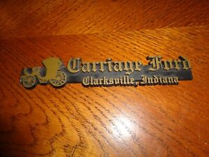 1968 1969 1970 1972 Ford Galaxie Mustang Torino Dealer Plate Carriage Ford