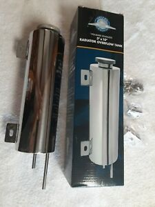 Stainless 3 X 10 Radiator Overflow Tank Polished United Pacific A6132