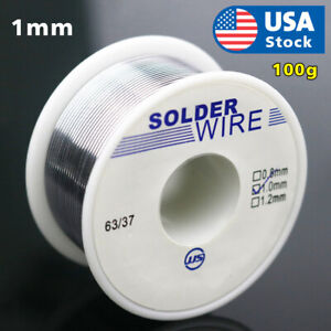 63 37 Tin Lead Rosin Core Flux Solder Wire For Electrical Solderding 1mm 100g