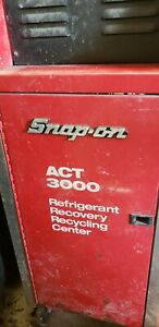 Snap On Act 3000 Ac Refrigerant Recovery And Recycle Machine