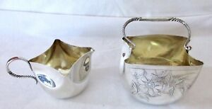 Antique Whiting Mfg Sterling Silver Sugar Creamer
