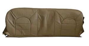 2000 Ford F350 Lariat Super Duty Diesel 7 3l Bench Bottom Leather Seat Cover Tan