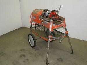 Ridgid 535 Power Pipe Bolt Threader On Rolling Stand 115 Volt