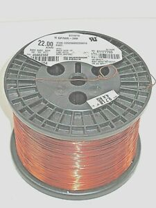 22 Awg Essex Magnet Wire Enameled Heavy Build 200 Degree Celsius 9 7 Lb Spool
