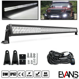 52 Led Light Bar Combo Beam Offroad Driving Upper Roof Lamp Suv 4wd 50 wiring