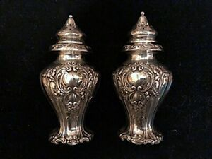 Sterling Salt Pepper Beautiful Design Solid Sterling Not Weighted