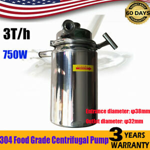 304 Food Grade 220v Centrifugal Pump Sanitary Beverage Milk Delivery Pump 3t h