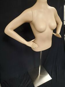 Female 1 2 Torso Mannequin With Stand New In Box With Arms Hands
