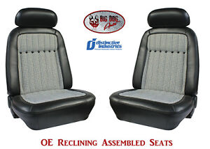 Fully Assembled Seats 1969 Camaro Deluxe Oe Style Reclining Any Houndstooth