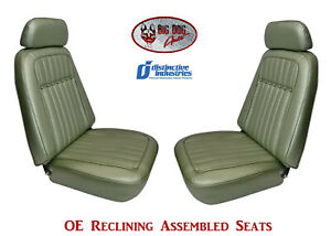 Fully Assembled Seats 1969 Camaro Deluxe Oe Reclining Your Choice Of Color