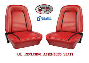 Fully Assembled Seats 1967 Camaro Deluxe Oe Reclining Any Color
