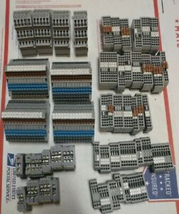 Lot Of 224 Terminal Blocks Wago 279 280 281 Entretec 5116 5120 Good Used