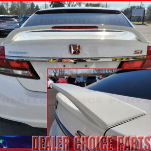 2012 2013 2014 2015 Honda Civic 4d Si Factory Style Spoiler Wing W led Unpainted