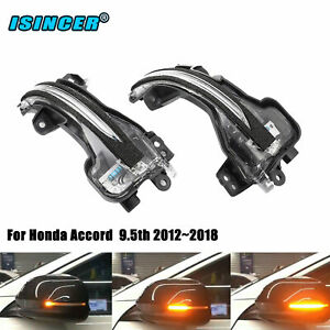 Sequential Lamp Side Mirror Trun Signal Lights For Honda Accord 9 5th 2012 2018