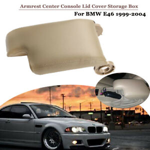 For Bmw E46 1999 2004 Pu Leather Armrest Center Console Lid Cover Storage Box