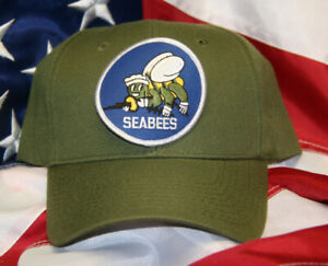 FIGHTING SEABEES HAT TACTICAL OD GREEN VETERAN US NAVY SEA BEE WOWNH CAP WOWNH 1 $22.89