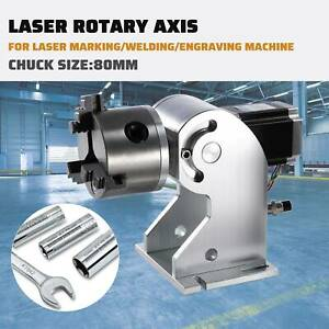 Laser Rotaion Axis F Fiber Laser Marking Machine Engraving Rotary Shaft 80 Cnc