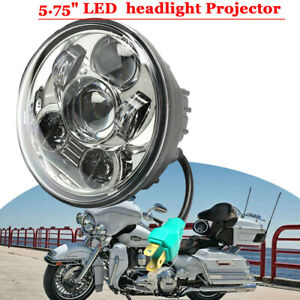 Motorcycle 5 3 4 5 75 Headlight Projector Led Light Bulb For Harley Davidson