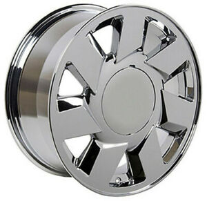 Set 4 17 Replica Rim Fits Cadillac Dts Style Ca01 17x7 5 Chrome Wheel