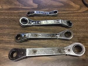 Blue Point 4pc Offset Ratcheting Wrench Set Metric 12pt Usa
