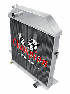 3 Row Super Champion Radiator For 1939 1940 1941 Ford Deluxe Chevy Configuration