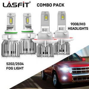 Fit For Ford Escape 2008 12 Led Headlight Bulb Fog Light Conversion Kit H13 5202